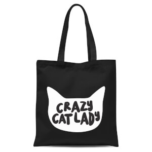 Crazy Cat Lady Tote Bag - Black