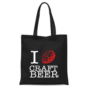 I Hop Craft Beer Tote Bag - Black