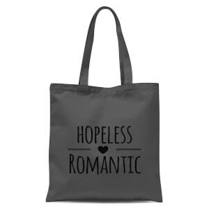 Hopeless Romantic Tote Bag - Grey