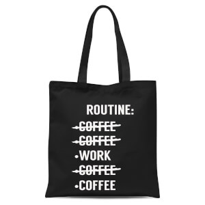 Coffee Routine Tote Bag - Black
