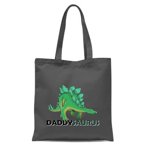 Daddysaurus Tote Bag - Grey