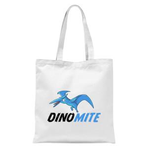 Dino Mite Tote Bag - White