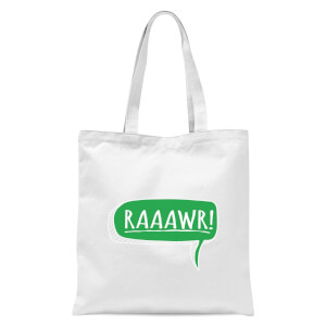 Raaawr Tote Bag - White
