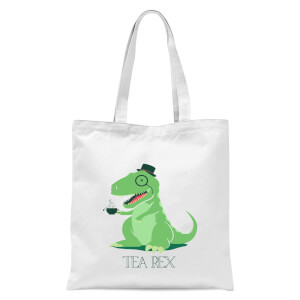 Tea Rex Tote Bag - White