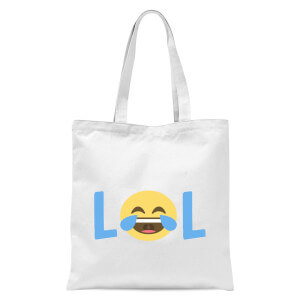 Laugh Out Loud Tote Bag - White