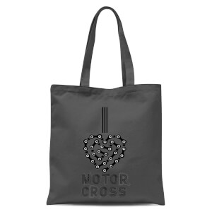 I Love Motorcross Tote Bag - Grey