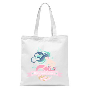 Mermaid Vibes Tote Bag - White
