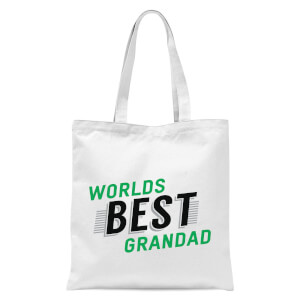 Worlds Best Grandad Tote Bag - White