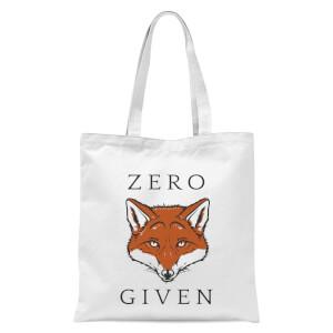 Zero Fox Given Tote Bag - White