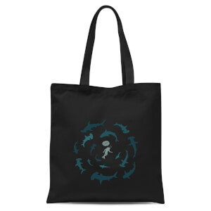 Crap Sharks Tote Bag - Black