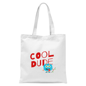 Cool Dude Skateboard Tote Bag - White