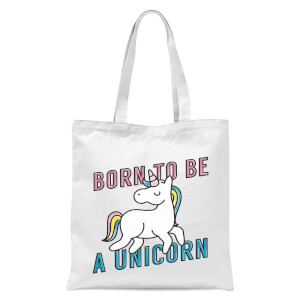Born To Be A Unicorn Tote Bag - White