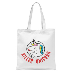 Killer Unicorn Tote Bag - White