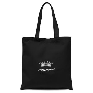 Queens Crown Tote Bag - Black