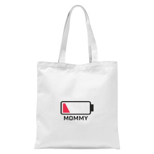 Mommy Batteries Low Tote Bag - White