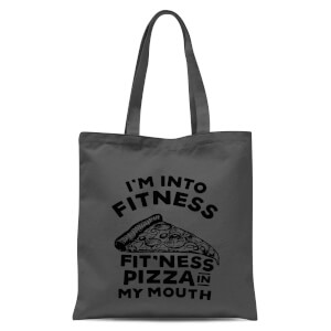 Fitness Pizza Tote Bag - Grey