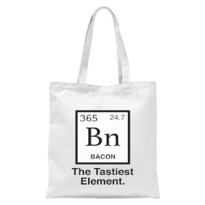 Bacon Element Tote Bag - White