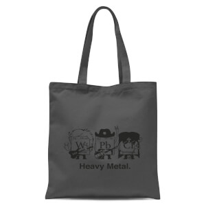 Heavy Metal Tote Bag - Grey