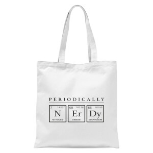 Periodically Nerdy Tote Bag - White