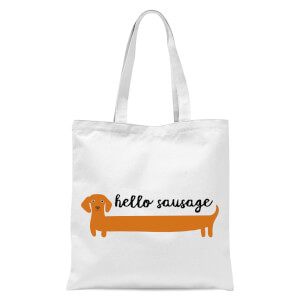Hello Sausage Tote Bag - White