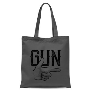 Gun Tote Bag - Grey