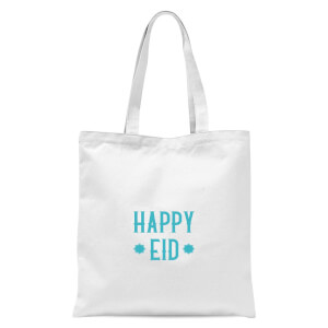 International Women's Day Happy Eid Aqua Tote Bag - White
