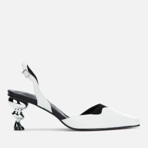 Yuul Yie Women's Lissom Sling Back Heeled Sandals - White/Black