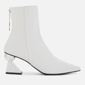 Yuul Yie Women's Amoeba Glam Heeled Boots - White