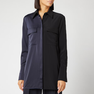 Victoria, Victoria Beckham Women's Panelled Shirt - Black/Midnight