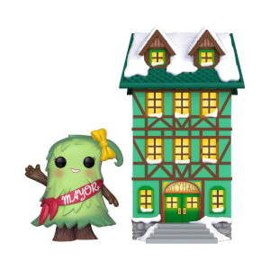 Figura Funko Pop! Town - Ayuntamiento con Alcalde Patty Noble - Pop! Holiday