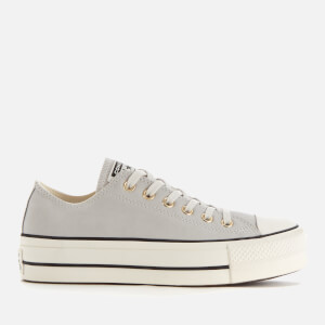 Converse Women's Chuck Taylor All Star Lift Ox Trainers - Mouse/Vintage White/Black