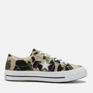Converse Men's Archive Print One Star Ox Trainers - Candied Ginger/Piquant Green