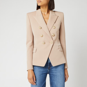 Balmain Women's Six Button Wool Jacket - Pink