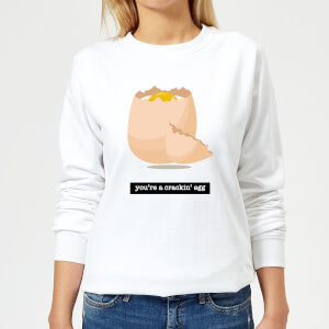 You're A Crackin' Egg Women's Sweatshirt - White