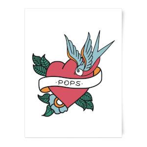 Pops Heart Art Print