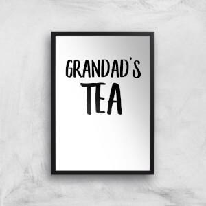 Grandad's Tea Art Print