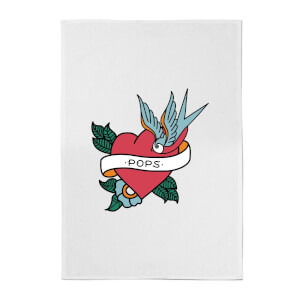Pops Heart Cotton Tea Towel