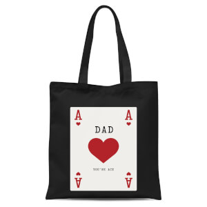 Dad You're Ace Tote Bag - Black