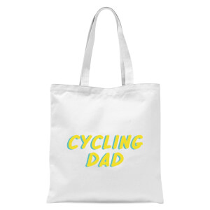 Cycling Dad Tote Bag - White