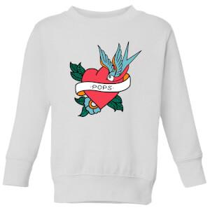 Pops Heart Kids' Sweatshirt - White
