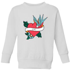 Da Heart Kids' Sweatshirt - White