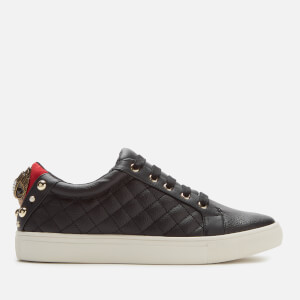 Kurt Geiger London Women's Ludo Leather Quilted Low Top Trainers - Black