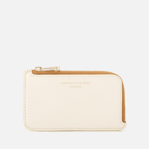 Aspinal of London Women's Small Zip Coin Purse - Ivory/Soft Taupe/Mustard