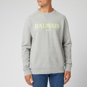 Balmain Men's Logo Sweatshirt - Gris Chine