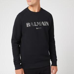 Balmain Men's Logo Sweatshirt - Noir/Argent