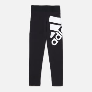 adidas Girls' Young Girls BOS Tights - Black