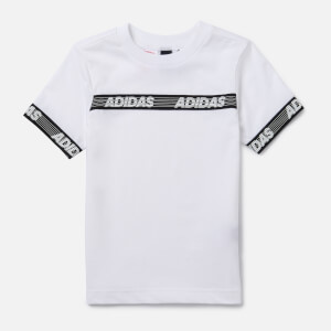 adidas Boys' Young Boys Sid Branded T-Shirt - White