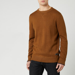 Joules Men's Eskdale Knit Jumper - Burnt Caramel Marl