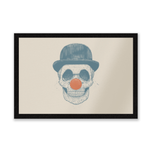 Red Nosed Skull Entrance Mat