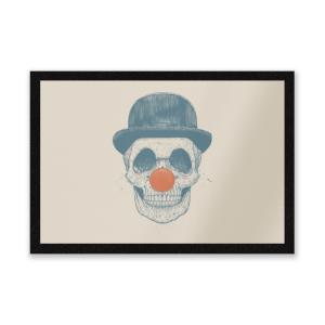 Red Nosed Skull Entrance Mat